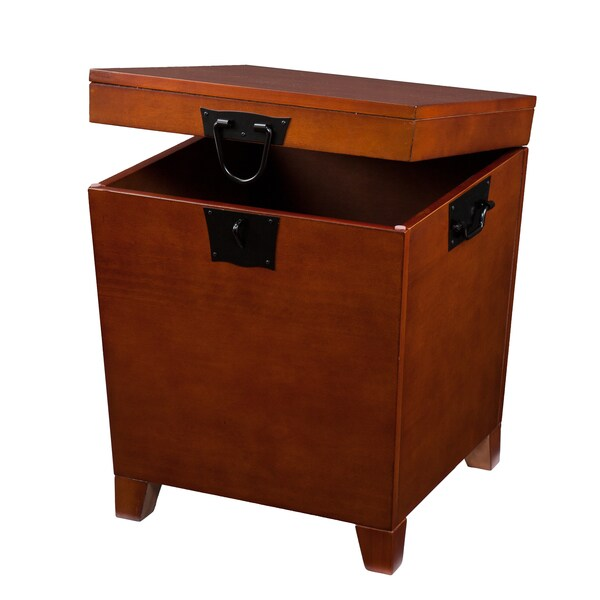 Elegant Harper Blvd Pyramid Trunk End Table   Free Shipping Today   Overstock.com    12078757