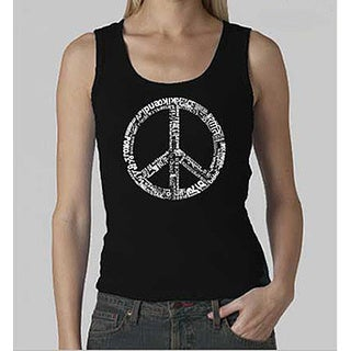 Los Angeles Pop Art Women's 'Peace' Tank Top (More options available)