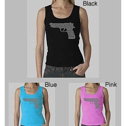Los Angeles Pop Art Women's Gun Tank Top (Option: S)