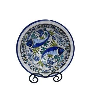 12-inch Aqua Fish Small Serving Bowl (Tunesia)