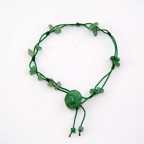 Handmade Jade Flower Anklet (China)
