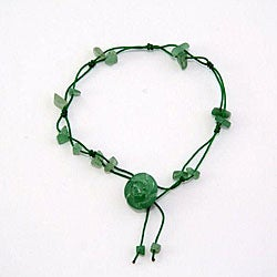 Handmade Jade Flower Anklet (China)