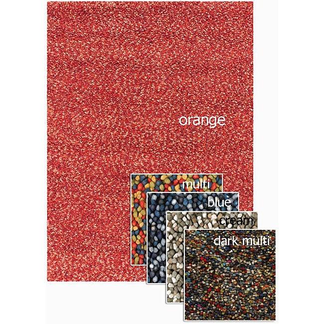 Hand-woven Mandara Shag Wool Rug (9' x 12')