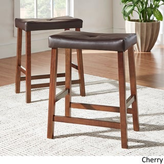 Nova 3-piece Kitchen Counter Height Dinette Set by iNSPIRE Q Classic (Option: Cherry)