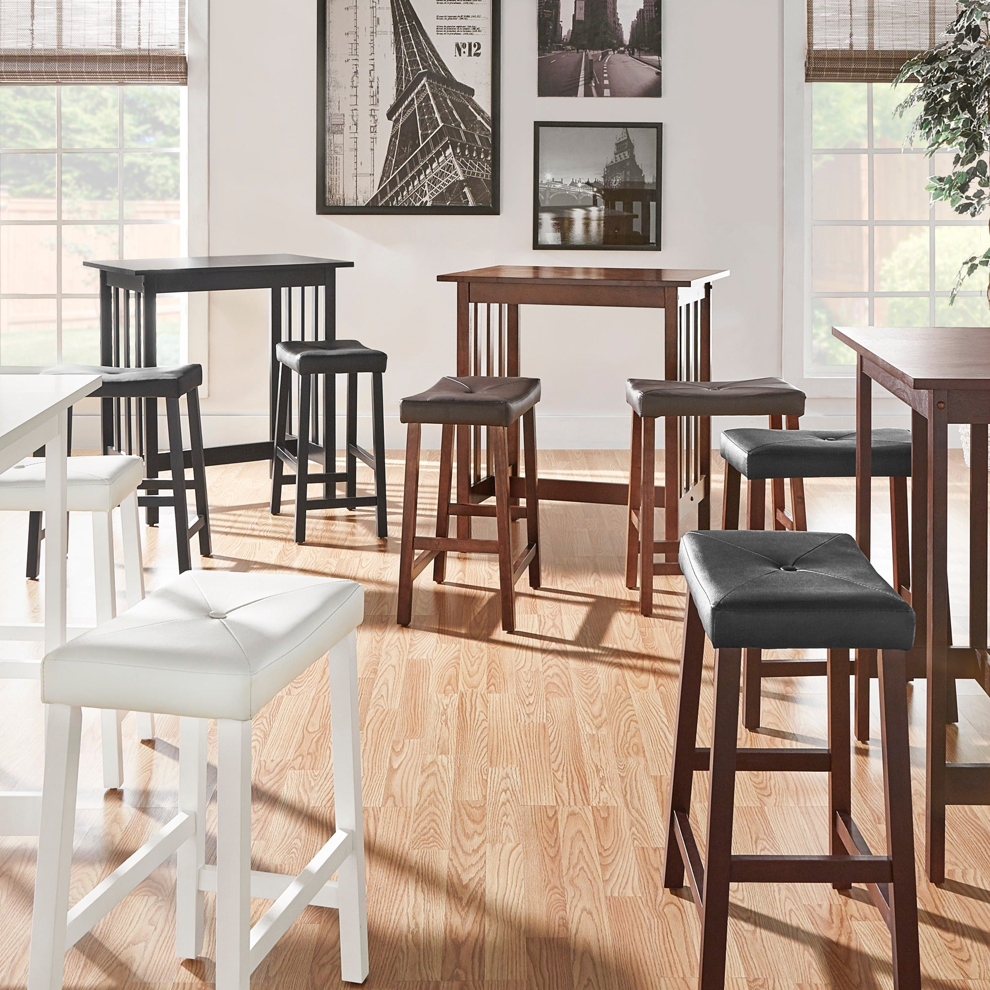 Fine Nova 3 Piece Kitchen Counter Height Dinette Set By Inspire Q Classic Gmtry Best Dining Table And Chair Ideas Images Gmtryco