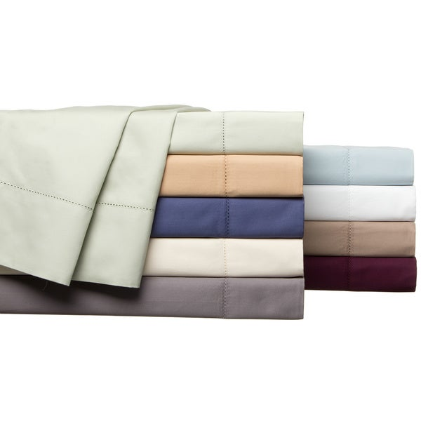Andiamo Solid 500 Thread Count 100 Percent Cotton Deep Pocket Sheet Set