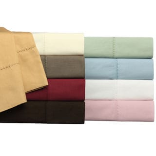 Camden Hemstitch Solid 350 Thread Count Egyptian Cotton 6-piece Sheet Set