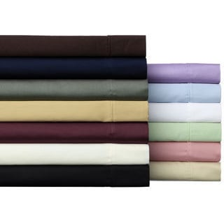 Solid Wrinkle Resistant 300 Thread Count Cotton Deep Pocket Sheet Set