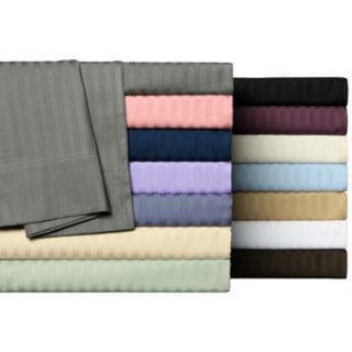 Wrinkle Resistant Woven Stripe All Cotton Sheet Set