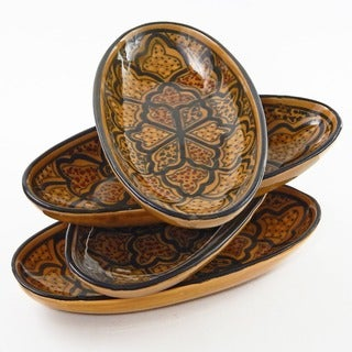Set of 4 Small Oval 9-inch Platters (Tunisia)