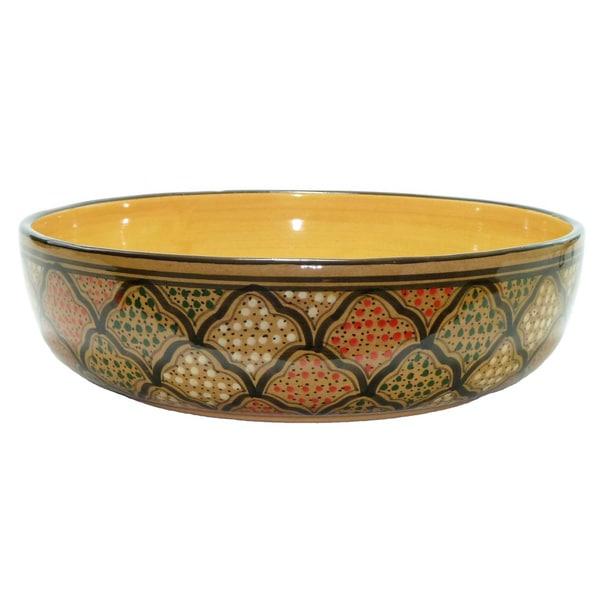 Handmade 12 In Wide SaladPasta Bowl Honey Design Free Shipping