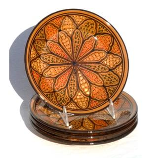 Set of 4 Clay Honey Design 8-inch Side Plates (Tunisia)