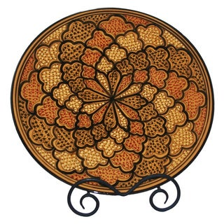 Honey Design 15-inch Round Platter (Tunisia)
