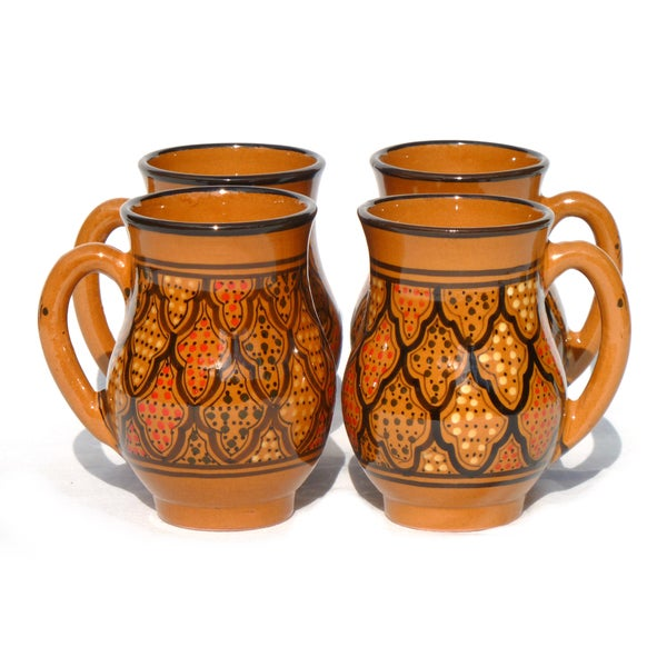 Set of 4 Honey Design 16-oz Large Mugs (Tunisia)