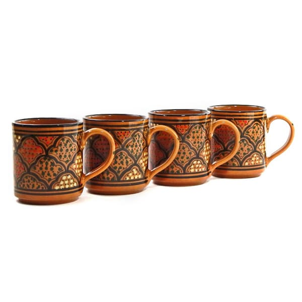 Set of 4 Honey Design Coffee Mugs (Tunisia)