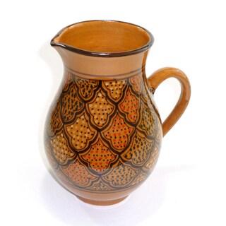 Handmade Large Honey Design Pitcher (Tunisia)