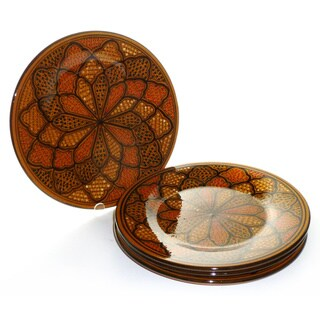 Set of 4 Honey Design 11-inch Dinner Plates (Tunisia)
