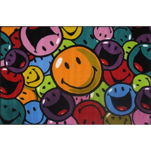 Smiles and Laughs Fun Rug (3'3 x 4'10)