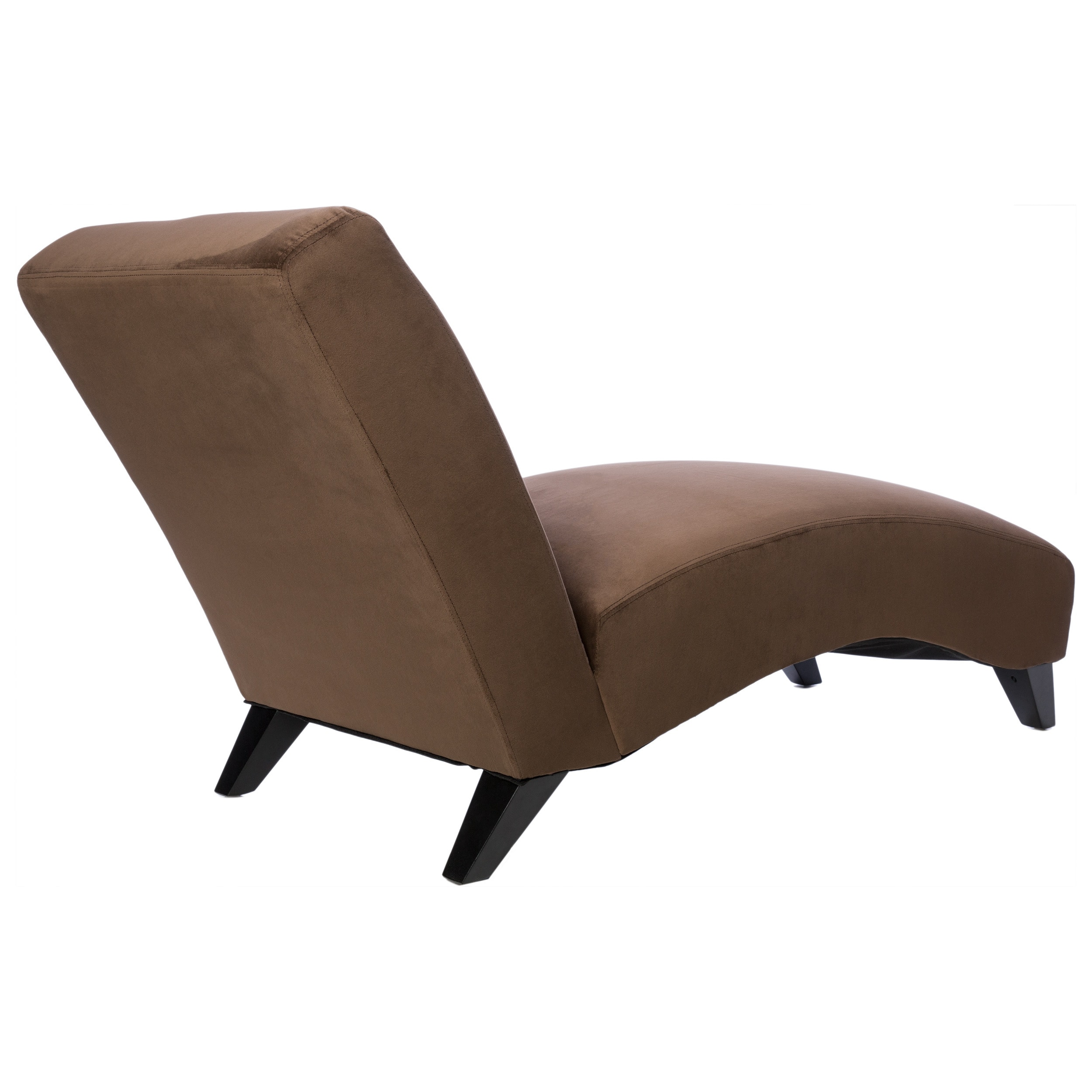 Living room chairs for less for Bella chaise dark brown