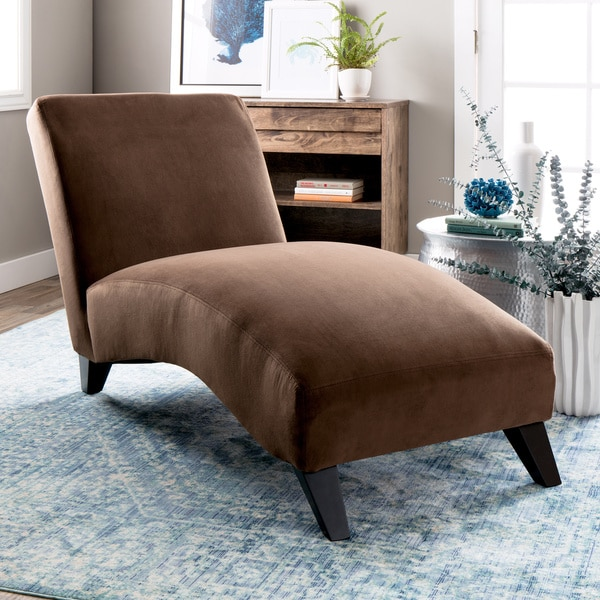 Bella Chaise Lounge Dark Brown