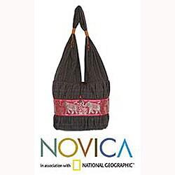 Handmade Cotton 'Scarlet Thai' Shoulder Bag (Thailand)