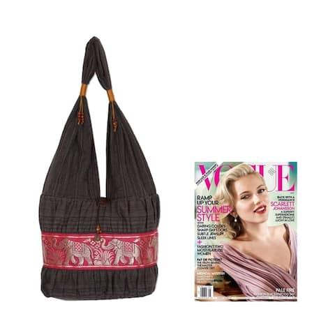 Handmade Cotton Scarlet Thai Shoulder Bag (Thailand)