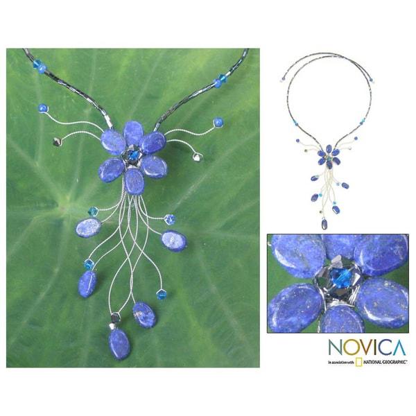 Lapis Lazuli 'Jungle Blossom' Choker (Thailand)