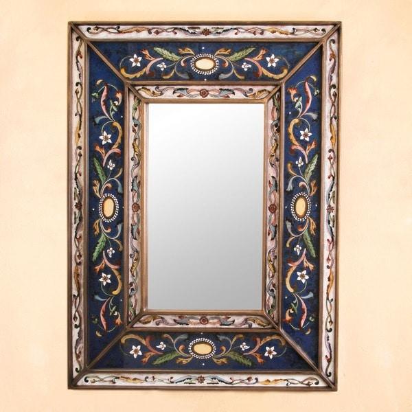 Handmade Cajamarca Frost Wood Frame Mirror Peru Free Shipping