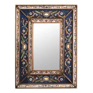 Handmade Cajamarca Frost Wood Frame Mirror (Peru)|https://ak1.ostkcdn.com/images/products/4068418/P12084815.jpg?impolicy=medium