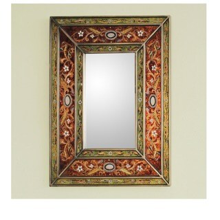 Handmade Cajamarca Warmth Wood Frame Mirror (Peru)