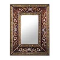 Handmade Cajamarca Warmth Wood Frame Mirror (Peru) - Brown