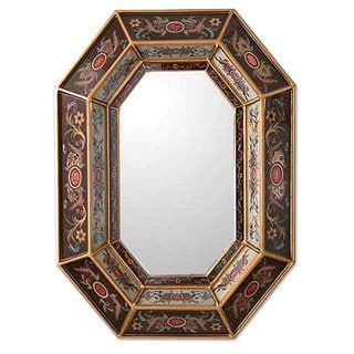Handmade 'Ethereal Lands' Mirror (Peru)
