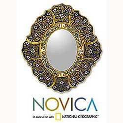 Garden Gold' Mirror , Handmade in Peru