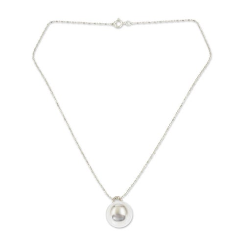 Handmade Sterling Silver 'On the Ball' Necklace (Thailand)