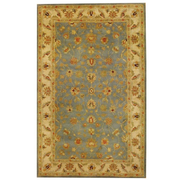 Herat Oriental Indo Hand-tufted Mahal Wool Rug (5'3 x 8'2)