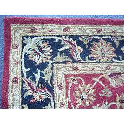 Indo Red/ Beige Wool Rug (3'3 x 5'3)