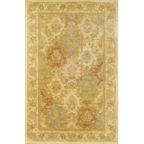 Herat Oriental Indo Hand-tufted Tabriz Wool Rug (5'3 x 8'2)