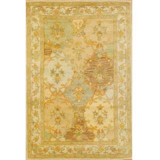 Indo Tabriz Hand-tufted Beige/ Ivory (4' x 6')