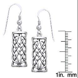 Carolina Glamour Collection Sterling Silver Celtic Creativity Woven Earrings - Thumbnail 1