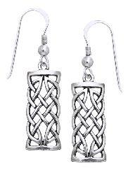 Carolina Glamour Collection Sterling Silver Celtic Creativity Woven Earrings - Thumbnail 2