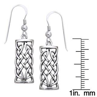 Sterling Silver Celtic Creativity Woven Earrings