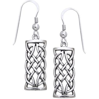 Sterling Silver Celtic Creativity Woven Earrings
