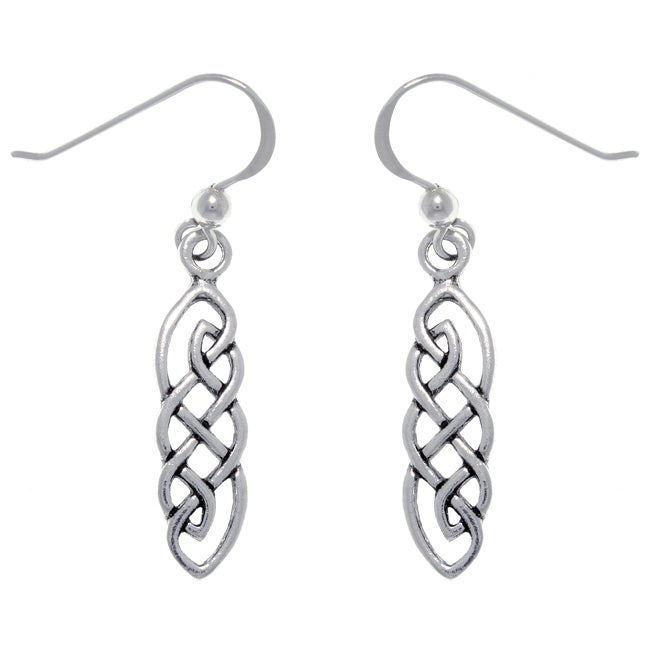 Carolina Glamour Collection Sterling Silver Celtic Imagination Woven Earrings