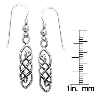Sterling Silver Celtic Imagination Woven Earrings