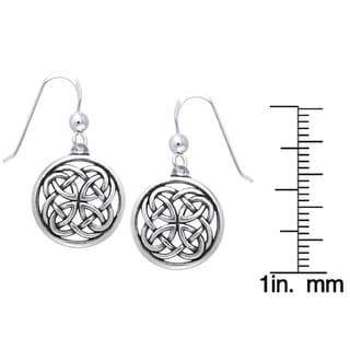 Sterling Silver Celtic Unity Knot Woven Earrings