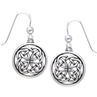 Sterling Silver Celtic Unity Knot Woven Earrings