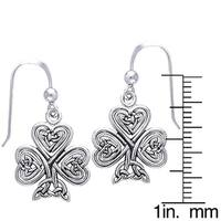 Sterling Silver Celtic Shamrock of Faith Earrings