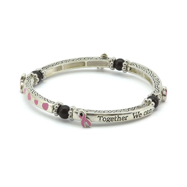 Breast Cancer Awareness Designer Bangle Bracelet