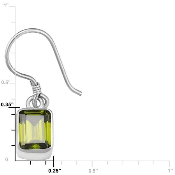 """GREEN EMERALD 925 STERLING SILVER EARRINGS GEMSTONE HANDMADE JEWELRY S 2/"""""""