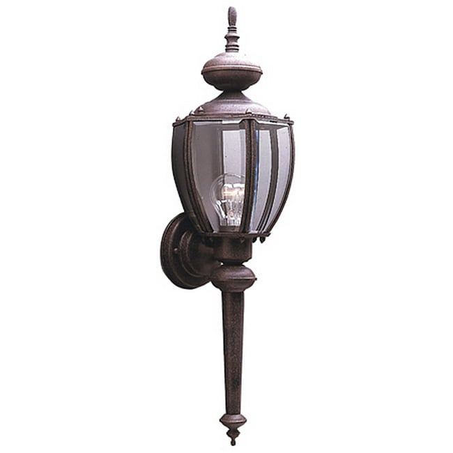 Solid Brass Sienna Finish Outdoor Wall Lantern